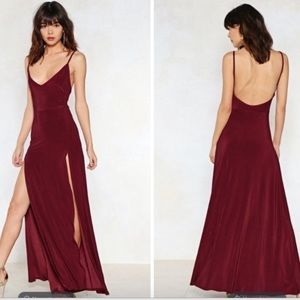 Nasty Gal On a High Maxi Dress